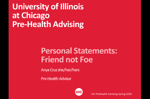 first slide of presentation with title personal statement: friend not foe