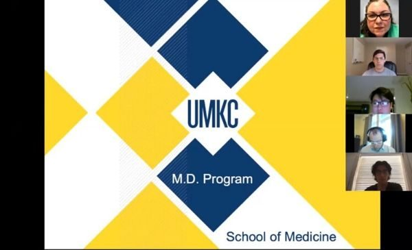 Title slide with words UMKC M.D. Program School of Medicine